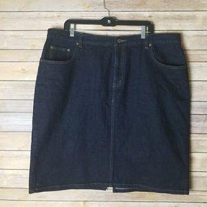 Ralph Lauren Denim Skirt Size 18W